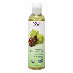 NOW Solutions, Organic Grapeseed Oil, Skin Care for Sensitive Skin, Light Silky Moisturizer for All Skin Types, 8-Ounce