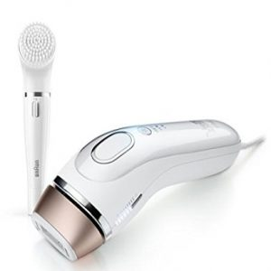 Gillette Venus Silk-expert 5 BD5008 Permanent Hair Reduction IPL, White/Bronze, with Facial Cleansing Brush