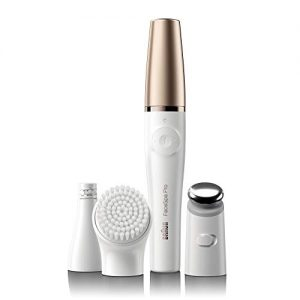 Braun Facial Epilator for Women, Facespa Pro 911 Facial Hair Removal 3 in 1 Epilating, Cleansing Brush and Skin Toning with 3 extras
