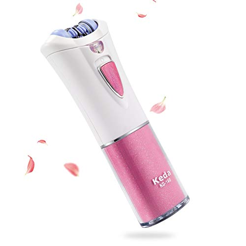 Epilator, Facial Hair Removal for Women with LED Light, Cordless Lady Epilators, Electric Woman Remover for Face & Body, Safe Trimmer
