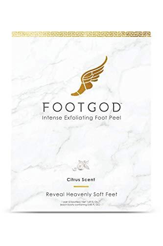 FootGod Exfoliating Foot Peel: Reveal Baby Smooth Feet, Moisturizing Aloe Gently Helps Peel Dead Skin, Eliminate Calluses with Luxury Skincare Technology