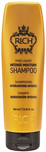 RICH Pure Luxury Intense Moisture Shampoo with Hydrolyzed Keratin and Wheat Protein for All Hair Types - Smoothing & Hydrating - Prevents Breakage, Heat Damage & Frizz, 8.45 Fl oz