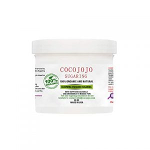 Cocojojo 8 Oz Cleopatra Sugaring Egyptian Sugar Wax Sugaring Hair Removal 100% Natural Paste with Egyptian Calendula and Chamomile - Firm Sugaring for Women and Men