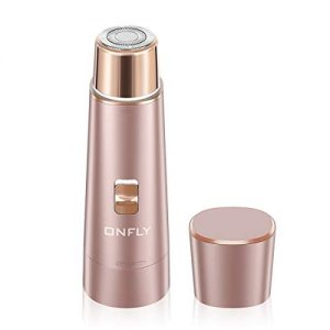Facial Hair Removal for Women, ONFLY USB Rechargeable Waterproof Hair Remover Electric Shaver Razor for Peach (Rose)