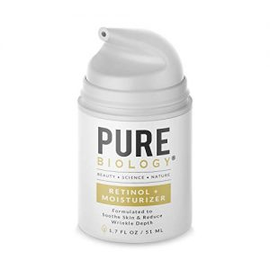 Pure Biology Premium Retinol Moisturizer Cream for Face, Neck & Eyes with Clinically Studied Pepha-Tight, Retinol 15D & Hyaluronic Acid for Wrinkles, Anti Aging Face Cream for Women & Men
