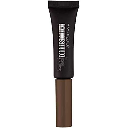 Maybelline TattooStudio Longwear Waterproof Eyebrow Gel Makeup for Fully Defined Brows, Spoolie Applicator Included, Lasts Up To 2 Days, Chocolate Brown, 0.23 Fl Oz (Pack of 1)
