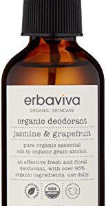 erbaviva Organic Deodorant, Jasmine & Grapefruit, 3.5 Fl Oz
