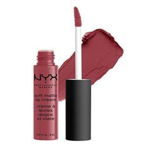 NYX PROFESSIONAL MAKEUP Soft Matte Lip Cream, High-Pigmented Cream Lipstick in Budapest