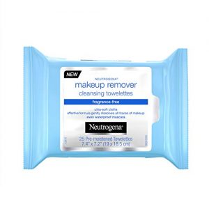 Neutrogena Makeup Remover Cleansing Towelettes, Fragrance Free, 25 ct