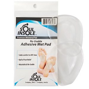 Soul Insole Premium Metatarsal Pad, Self-Sticking and Re-Usable