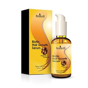 Biotin Hair Growth Serum - Hair Loss Prevention Treatment with fine thinning hair Formula to Help Grow Healthy Thicker Strong Hair for Men & Women By Beaueli