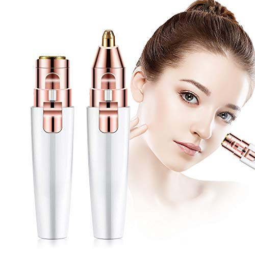 Facial hair remover for women,2 in 1 Eyebrow Trimmer and face trimmer for women,Electric Lady Shaver Epilator For Women