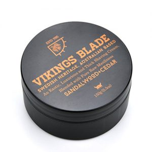 VIKINGS BLADE Luxury FOAMING Shaving Cream, Sandalwood & Western Red Cedar, Surfactant Base