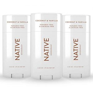 Native Deodorant - Natural Deodorant for Women and Men - 3 Pack Coconut & Vanilla - Aluminum Free, Free of Parabens & Sulfates, Vegan, Gluten Free & Cruelty Free