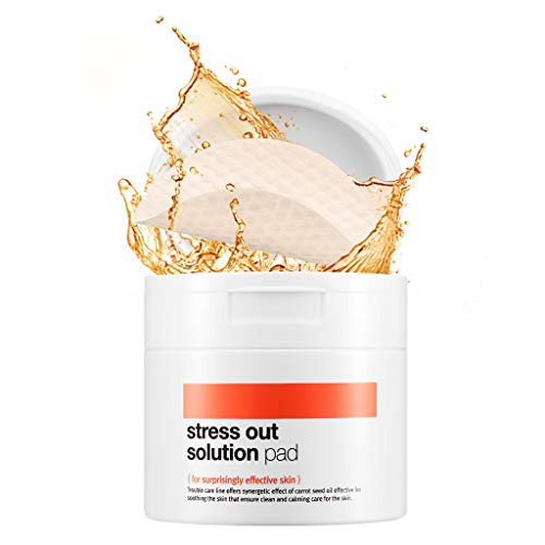 [BELLAMONSTER] Stress Out Solution Pad 155ml 70ea / 3D Embossed Vitamin A Carrot Seed Oil Pad Removes Dead Skin Cells and Red Spots, Acne Relief, Skin's Strength Enhancement for Dull Skin