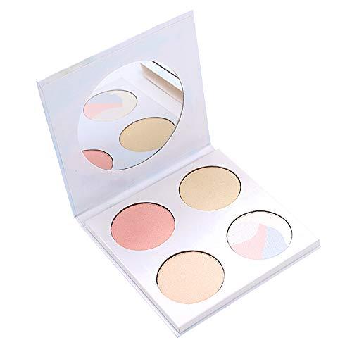 Highlighting Powder Palette,4 Colors Highlighter Makeup Palette,Face Contour Illuminator Powder Palette Facial Stereoscopic Corrective Exquisite Powder