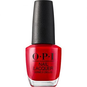 OPI Nail Polish, Nail Lacquer, Big Apple Red, Red Nail Polish, 0.5 Fl Oz