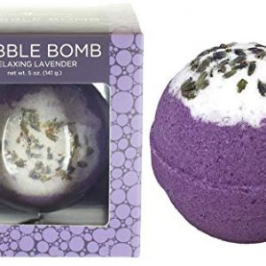 Bubble Bath Bomb by Two Sisters Spa. Large 99% Natural Fizzy for Women, Teens and Kids. Moisturizes Dry Sensitive Skin. Releases Color, Scent, and Bubbles. Handmade in USA (Relaxing Lavender)