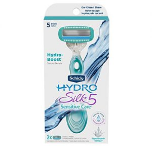 Schick Hydro Silk Sensitive Skin Razor for Women with 2 Moisturizing Razor Blade Refills, 2 Count
