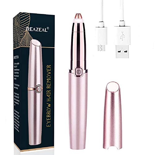 Rechargeable Eyebrow Hair Remover Painless-Precision Eyebrow Trimmer Eyebrow Razor Tool For Face Lips Nose Facial Hair Removal for Men Women