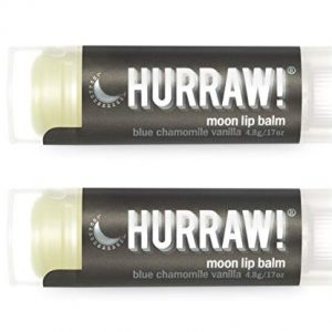 Hurraw Moon Night Treatment (Blue Chamomile, Vanilla) Lip Balm, 2 Pack – Organic, Certified Vegan, Cruelty and Gluten Free. Non-GMO, 100% Natural Ingredients. Bee, Shea, Soy and Palm Free. Made in USA