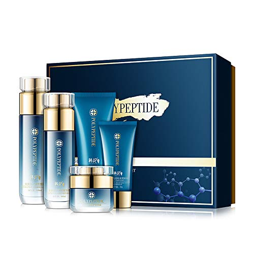 FREEORR Moisturizing Hydration Polypeptide Firming Skin Shrink Pores Must-Haves Set- 5 Piece Luxury Collection of Moisturizing Products Skin Care Kit and Beautiful Gift Box, Say Goodbye to Dry Skin