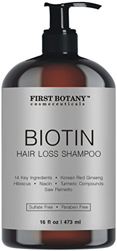 Hair Growth Hair Loss Shampoo - 16 fl oz, with 14 DHT blockers- Hair Regrowth and Daily Hydrating, Detoxifying, Volumizing Shampoo For Men and Women