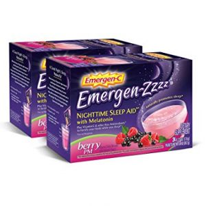 Emergen-Zzzz Nighttime Sleep Aid, With Melatonin And Vitamin C 500mg (24 Count, Berry PM Flavor) Dietary Supplement, 0.27 Ounce Powder Packets x 2 Box) Total 48 individual packets