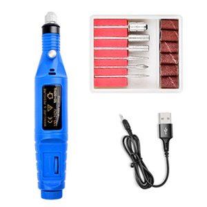 XHSP Electric Nail Drill,Electric Nail File,Acrylic Nail Tools,Portable Electric Nail Kit,Pen Shape Finger Toe Nail Care,Nail Polishing Machine Home Salon Use