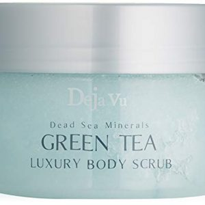 Deja Vu Dead Sea Minerals GREEN TEA Luxury Body Scrub - 250ml 8.5oz.