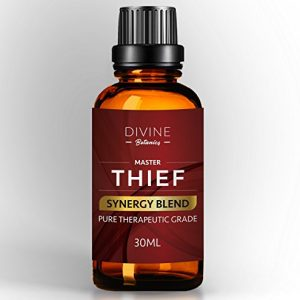 Divine Botanics Master Thief Synergy Blend Essential Oils 30 ml Pure Natural Germ Fighter Undiluted Therapeutic Grade Best Health Shield - Clove Cinnamon Lemon Rosemary Eucalyptus