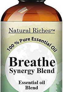 Natural Riches Breathe Essential Oil Blend - Blend Helps Relief Sinus Colds Allergy Flu Cough Congestion - Peppermint Eucalyptus - 30 ml