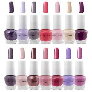 Live Green Nail Polish Set - 14 MINI Nail Polish Colors, Polish Kit for Fingernails and Toenails, 0.12 Fl Oz Each