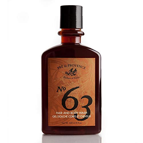 No. 63 Men's Shower Gel, Aromatic, Warm, Spicy Masculine Fragrance, Enriched With Natural & Repairing Shea Butter & Aloe Vera (8 fl oz)
