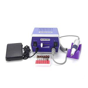 Professional 30,000rpm Finger Toe Nail Care Electric Nail Drill Machine Manicure Pedicure Kit Electric Nail Art File Drill Purple