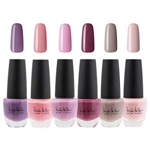 Nicole Miller Nail Polish Set, 6 Piece Nail Polish Collection, Quick Dry Nail Polish for Women and Girls