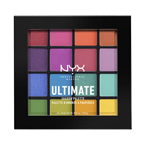 NYX PROFESSIONAL MAKEUP Ultimate Shadow Palette, Eyeshadow Palette, Brights