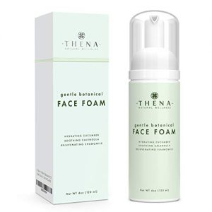 Thena Facial Cleanser With Refreshing Hydrating Cucumber Gentle Soothing Calendula & Vitamin E | Natural & Organic Skin Care Anti aging Face Wash For Women Men Moisturizing Face Wash Facial Cleaner