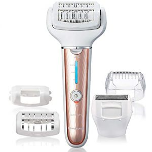 Panasonic Cordless Shaver and Epilator For Women With 5 Attachments, Gentle Wet/Dry Hair Removal for Legs, Underarms, Bikini, Face - ES-EL7A-P