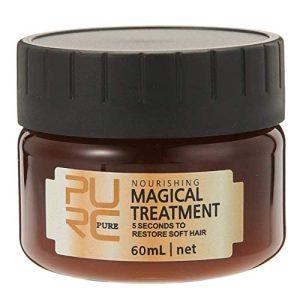 PURC Hair Treatment Mask, 120ml Magical Hair Mask Supplement Nourishing Conditioning, Make Hairs Soft Smooth Repair Damage Professional Cream For Dry Hair (60ml)