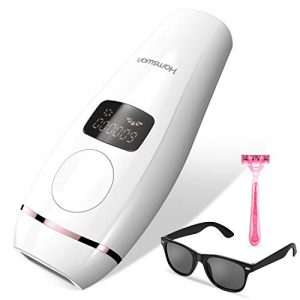 IPL Laser Hair Removal System Painless 600,000 Flashes Professional Facial and Body Permanent Hair Remover Device Hair Treatment Wholebody Home Use for Women and Man