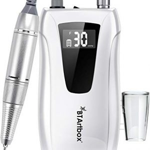 Professional Nail Drill Machine - Nail Drills for Acrylic Nails BTArtbox Portable Electric Nail Drill Rechargeable 30000rpm Efile Nail Drill for Gel Nails Remove, Gift for Women Home and Salon Use