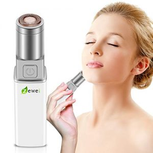 Facial Hair Removal for Women, Waterproof Painless Hair Remover Eyebrow Trimmer for Peach Fuzz, Chin Hair, Upper Lip Moustaches, Battery-Operated Lipstick Design