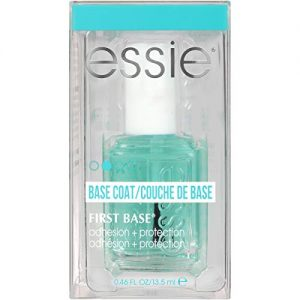 essie Base Coat Nail Polish, First Base Base Coat, Adhesion + Protection, 0.46 Fl. Oz (packaging may vary)