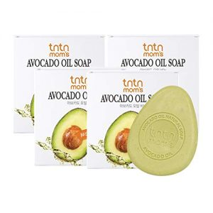 TNTN MOM'S - Avocado oil soap bar for pregnant woman | Vitamin A, B, B1, B2, E, D | Natural soap bars | 5% avocado oil &bamboo salt | Korean moisturizer maternity skin care | 3.52oz (4 count)