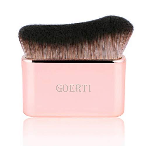Professional Body Makeup Brush for Blending Liquid Foundation High Density Face Kabuki Brush for Body Highlighter Bronzer Shimmer Glow Concealer Cream Powder Body Brush (Rose gold)