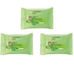 Garnier SkinActive Clean+ Refreshing Makeup Remover Wipes, 3 Count