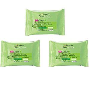 Garnier SkinActive Clean+ Refreshing Makeup Remover Wipes, 3 Count