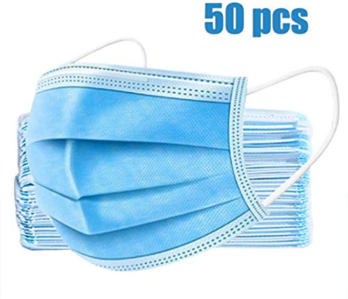 50 Pcs Face Mouth Cover, Disposable 3 Layers (7 Day Fast Delivery from seller Cobiz)