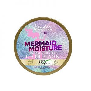 OGX Kandee Johnson Collection Mermaid Moisture Deep Conditioning Hair Mask for Color-Treated Hair, Sulfate-Free Surfactants Moisturizing Treatment for Dry Damaged Hair, 6 oz